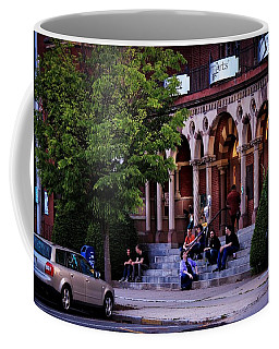 Coffee Mug featuring the photograph Old Town Hall In The Summer by Sven Kielhorn