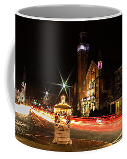 Old Town Hall Light Trails Coffee Mug