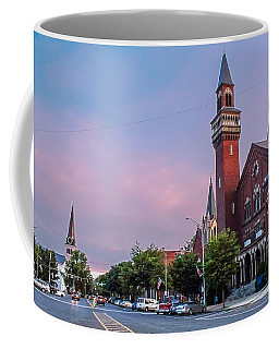 Old Town Hall Sunset Sky Coffee Mug