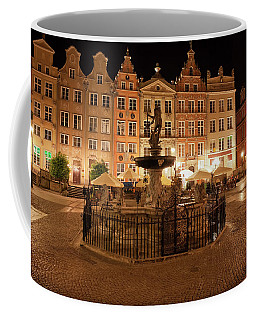 Old Town Of Gdansk By Night In Poland Coffee Mug