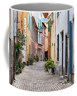 Old Town Street In Villefranche-sur-mer Coffee Mug