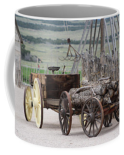 Old Tractor And Wagon In Foreground Cove Creek Fort Photography By Colleen Coffee Mug