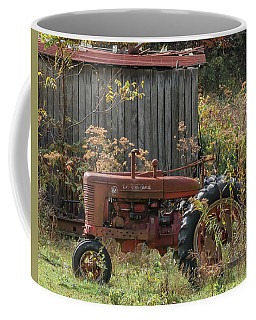 Old Tractor On The Farm. Coffee Mug