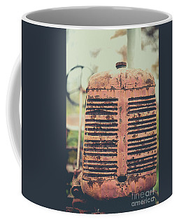 Old Tractor Vintage Look Coffee Mug by Edward Fielding