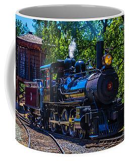 Old Train And Water Tower Coffee Mug
