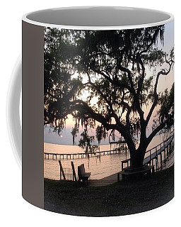 Coffee Mug featuring the photograph Old Tree At The Dock by Christin Brodie