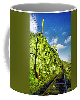 Coffee Mug featuring the photograph Old Trolly Tracks by Jeff Swan