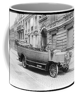 old truck poster art wall, photo vintage truck poster, truck photography restored - Restored truck p Coffee Mug