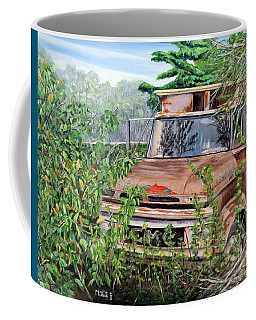 Coffee Mug featuring the painting Old Truck Rusting by Marilyn  McNish