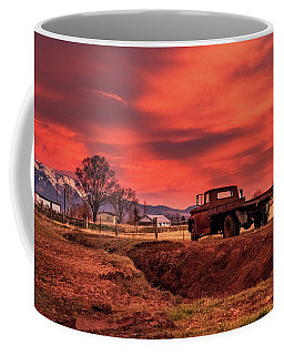 Old Valley Truck Watching The Morning Skyfire Coffee Mug