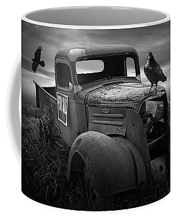 Old Vintage Chevy Pickup Truck With Ravens Coffee Mug