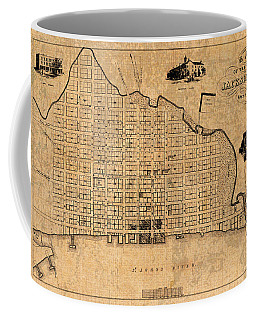 Old Vintage Map Of Jacksonville Florida Circa 1859 On Worn Distressed Parchment Coffee Mug