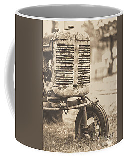 Old Vintage Tractor Brown Toned Coffee Mug by Edward Fielding