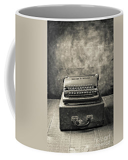Coffee Mug featuring the photograph Old Vintage Typewriter  by Edward Fielding