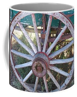 Coffee Mug featuring the photograph Old Wagon Wheel by Dora Sofia Caputo Photographic Art and Design