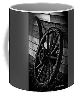 Old Wagon Wheel Coffee Mug by Joann Copeland-Paul
