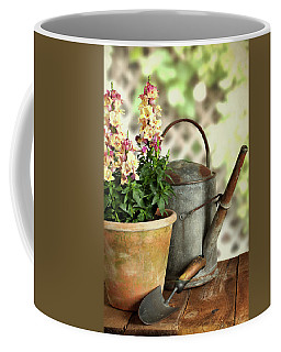 Old Watering Can With Plant Coffee Mug