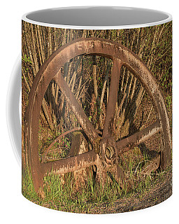 Old Wheel Petersburg Alaska Coffee Mug