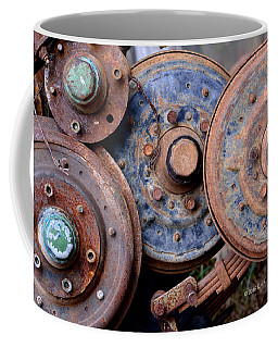 Old Wheels, Circles And Bolts Coffee Mug