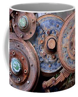 Old Wheels, Circles And Bolts Coffee Mug