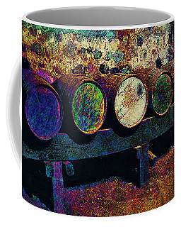 Coffee Mug featuring the digital art Old Wine Barrels by Glenn McCarthy Art and Photography