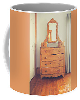 Old Wooden Dresser Coffee Mug by Edward Fielding