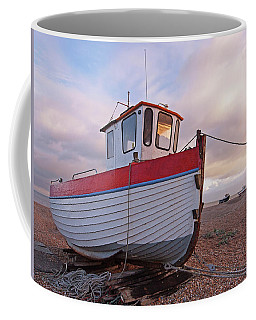Old Wooden Fishing Boat Home By Sunset Coffee Mug