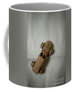 Old Wooden Toy Car Still Life Coffee Mug by Edward Fielding