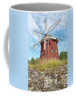 Old Wooden Windmill In Sweden Coffee Mug