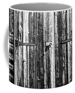 Old Work Shed Bw Coffee Mug by Mary Bedy
