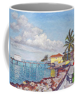 Old Yellow Gas Station By The Waterfront - Cooper's Town Coffee Mug