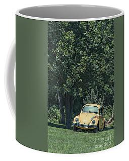 Old Yellow Vw Bug Under A Tree Coffee Mug