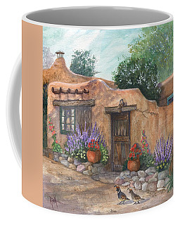 Coffee Mug featuring the painting Old Adobe Cottage by Marilyn Smith