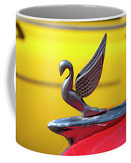 Coffee Mug featuring the photograph Oldsmobile Packard Hood Ornament Havana Cuba by Charles Harden