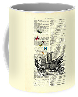 Oldtimer And Butterflies Coffee Mug
