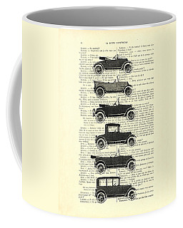 Collection Oldtimers In Black And White Vintage Illustration Coffee Mug