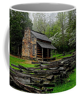 Oliver's Cabin Among The Dogwood Of The Great Smoky Mountains National Park Coffee Mug
