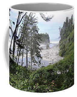 Coffee Mug featuring the photograph Olympic National Park Beach by Tony Mathews