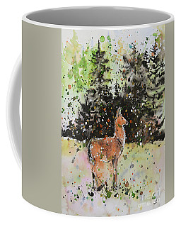 Black-tailed Deer In The Hurricane Ridge Coffee Mug by Zaira Dzhaubaeva
