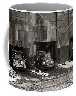 Olyphant Pa Coal Breaker Loading Trucks And Gondola Car Winter 1971 Coffee Mug