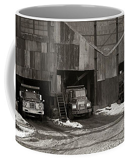 Olyphant Pa Coal Breaker Loading Trucks And Gondola Car Winter 1971 Coffee Mug