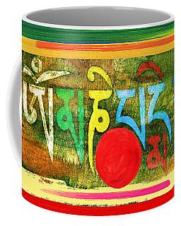 Coffee Mug featuring the painting Om Mani Padme Hum by Lita Kelley