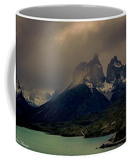 Ominous Peaks Coffee Mug by Andrew Matwijec