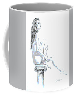 On A Pedestal Coffee Mug by Edgar Torres