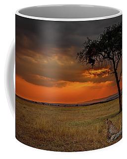 On A  Serengeti Evening  Coffee Mug