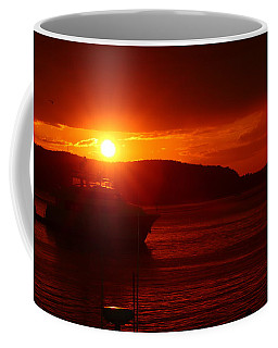 Coffee Mug featuring the photograph On Fire by Living Color Photography Lorraine Lynch