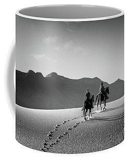 On Horseback At White Sands Coffee Mug