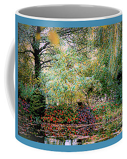 Coffee Mug featuring the photograph Reflection On, Oscar - Claude Monet's Garden Pond by D Davila