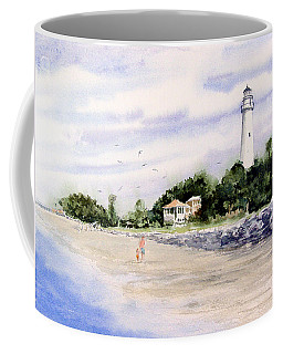 Coffee Mug featuring the painting On The Beach At St. Simon's Island by Sam Sidders