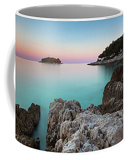 On The Beach In Dawn Coffee Mug
